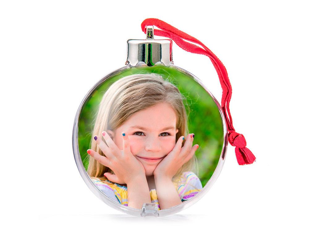 Bola para rbol de navidad personalizada con fotos regal - Bola de navidad con foto ...