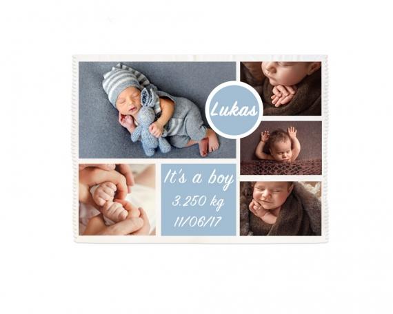 Manta polar bebé personalizada
